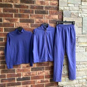 Rafael Purple Blue 3-Pc Pant Set Wm Sm